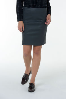 Sukňa GANT G2. LEATHER SKIRT