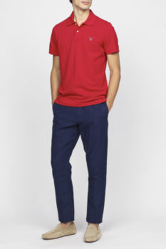 Nohavice GANT O2. RELAXED LINEN CHINO