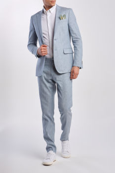 SAKO GANT D2. SLIM STRETCH LINEN SUIT JKT