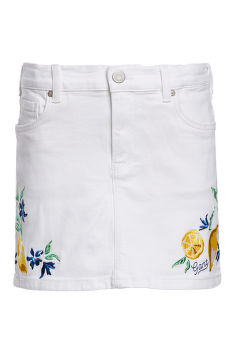 SUKŇA GANT D2. SUMMER EMBROIDERY TWILL SKIRT
