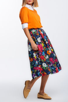 SUKŇA GANT D2. HUMMING FLORAL PLEATED SKIRT