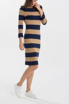 ŠATY GANT O1. STRIPED BOATNECK DRESS