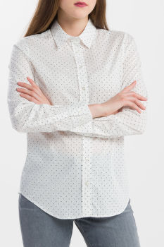 KOŠEĽA GANT O1. POLKADOT STRETCH BROADCLOTH