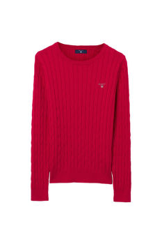 SVETER TG.GIRLS STRETCH COTTON CABLE CREW