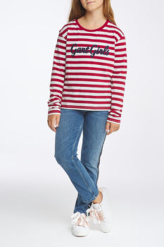 TRIČKO D1. GANT GIRLS STRIPED LS T-SHIRT