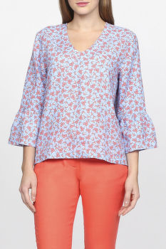 Košeľa GANT O2. LINKED FLORAL TOP