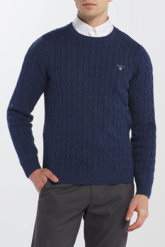 SVETER GANT COTTON CABLE CREW