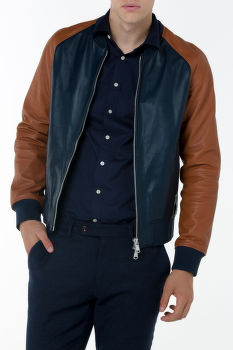 Bunda GANT G1. LEATHER BOMBER JACKET