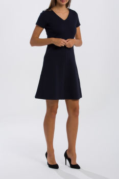 ŠATY GANT O1. TEXTURED FLARED DRESS