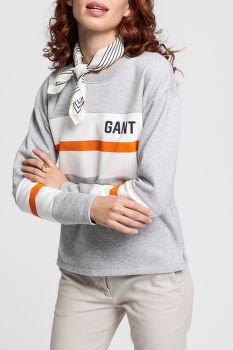 MIKINA GANT D1.GRAPHIC BLOCK STRIPE C-NECK