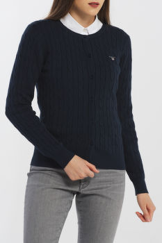 SVETER GANT STRETCH COTTON CABLE CARDIGAN