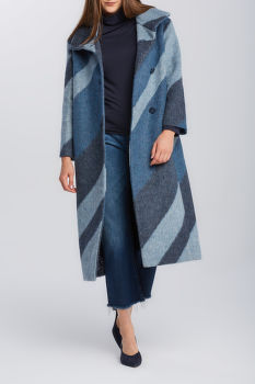 KABÁT GANT D2. GRAPHIC FUNNEL NECK WOOL COAT