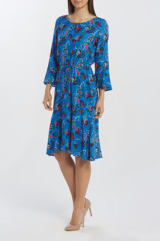 ŠATY GANT D1. FLORAL FLY FISH RUFFLE DRESS