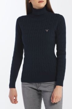 SVETER GANT STRETCH COTTON CABLE TURTLE NECK