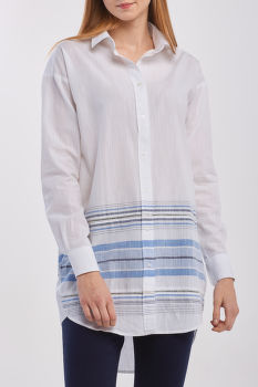 KOŠEĽA GANT D2. PLACED SLUB STRIPE LONG SHIRT