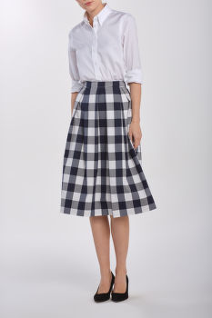SUKŇA GANT D1. GINGHAM PLEATED SKIRT