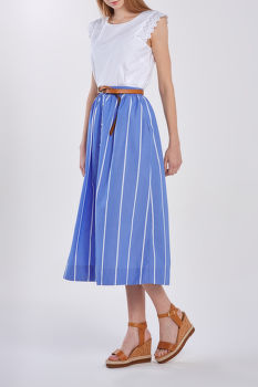 SUKŇA GANT D2. STRIPED SHIRT SKIRT