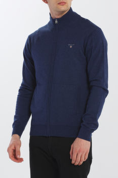 SVETER GANT COTTON WOOL ZIP CARDIGAN