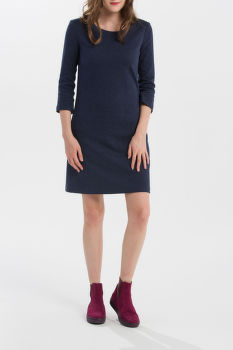 ŠATY GANT HERRINGBONE JERSEY A-LINE DRESS