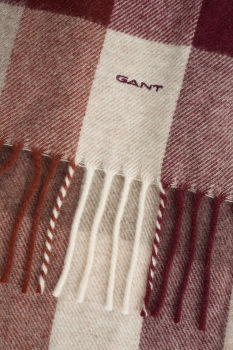 GANT O2. MULTICHECK LAMBSWOOL SCARF