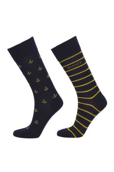 PONOŽKY GANT D1. 2-PACK ANCHOR INTARSIA SOCKS