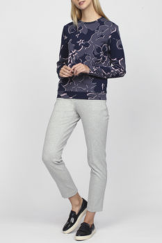 Mikina GANT O1. FLOWER AOP C-NECK SWEAT